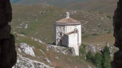 Church of Santa Maria della Pietà, the Gran Sasso National Park, Abruzzo Stock Footage