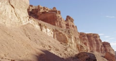 Charyn Canyon. - stock footage
