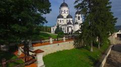 This is orthodox church from Capriana Monastery, Moldova Stock Footage