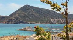 Beautiful views of the Altea, Spain Stock Footage