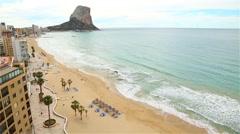 The coastline of Benidorm. Costa Blanca Stock Footage