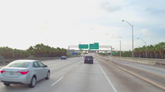 Driving I95 and highway interchange Stock Footage
