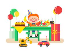 Holiday child birthday - stock illustration
