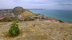 Beautiful views of the Alicante. Costa Blanca Stock Footage