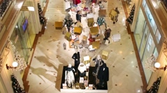 Spacious hall with rows of shops in shopping center Petrovsky Passage Arkistovideo
