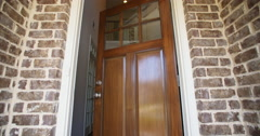 Front Home Entrance Low Angle Door Open Rise Up Stock Footage
