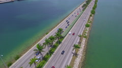 Macarthur bridge Miami 4k Stock Footage