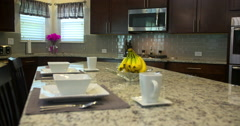 Kitchen Island Rise from Below4k Stock Footage