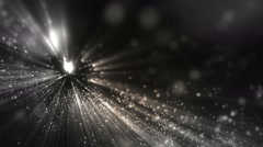 Background grey with rays in space. Stock Footage