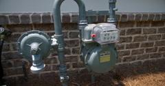 Exterior Gas Meter Medium Lowering Stock Footage