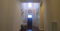 Home Interior Hallway Lowering - stock footage