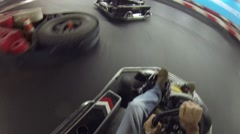 Karting, RRT Kart - modern playground, meeting place for sportsmen Stock Footage