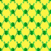 Seamless Frog Pattern. Animal Background Stock Illustration