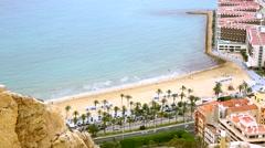 The coastline in Alicante Stock Footage