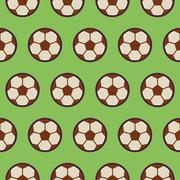 Flat Vector Seamless Sport and Recreation Pattern Football Soccer Stock Illustration