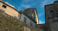 Old European Houses in the Town Of Motovun Graded - stock footage