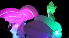 light procession of dragons and fairies.  Stock Footage