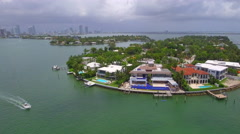 Mansions Venetian Islands Miami Beach Stock Footage