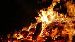 Detail 0f bonfire. Slow Motion Stock Footage