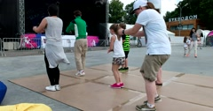 A master class in street dance in the park Stock Footage