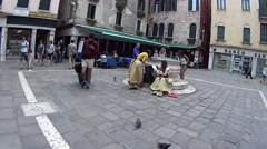 Little square in Venice. The camera moves. Stock Footage