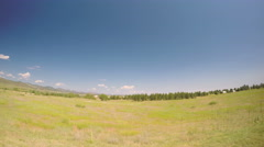 Car driving through grassland at Chatfield State Park.-POV point of view. Stock Footage