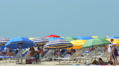 Scorching hot day on the beach - stock footage