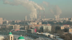 Moscow cityscape on a sunny morning. Stock Footage