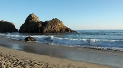 Pfeiffer Beach Keyhole Rock Before Sunset Stock Footage