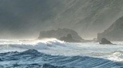 Waves Crashing at Pfeiffer Beach Stock Footage