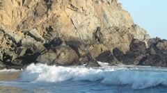 Looking South at Pfeiffer Beach Coast Stock Footage