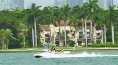 Fast boats in Miami Stock Footage
