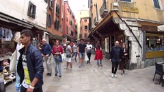 romance, exotic  the street in Venice. - stock footage
