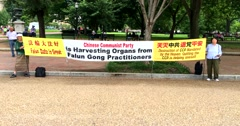 Protest against organ harvesting Stock Footage