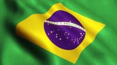 Brazil flag loop video animation 4K - stock footage