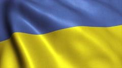 Ukraine flag loop video animation 4K Stock Footage