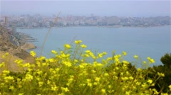Port of Alicante with sea views Stock Footage