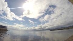 Timelapse of horizon and clouds in Futafuti, Tuvalu HD Video Stock Footage