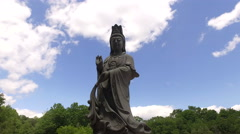 Dolly shoot statue in Chuang Yen Monastery  Stock Footage