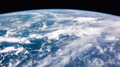 Aerial shot of planet earth in space from ISS. Time lapse 4k. NASA. Stock Footage