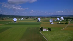Satellite earth station Raisting, Upper Bavaria, Germany Stock Footage
