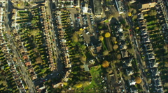 Aerial view of suburban housing in London UK Stock Footage