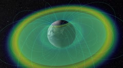 Earth's Radiation Belts And Plasmapause Stock Footage