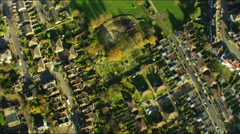 Aerial view of residential properties in inner city London - stock footage