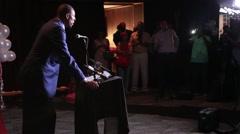 Paul Pierce at the podium Stock Footage