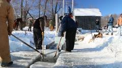 Ice Harvest Stock Footage