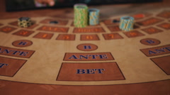 Good luck - the dealer pushes the player to double the bet. Clear victory. - stock footage