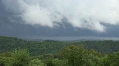 Rain Clouds and Fog: Appalachian Mountains Stock Footage