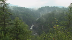 Linville Falls in the Rain Stock Footage