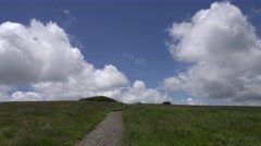Appalachian Trail: Grassy Bald with Cumulus Clouds Stock Footage